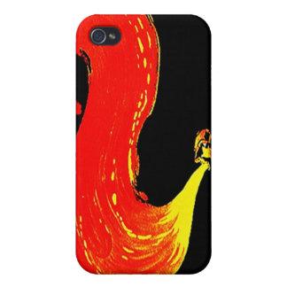 iPhone 4 Case Vintage circus fire breathing act ad