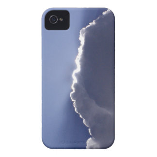 iPhone 4 case with photo of silver lining cloud