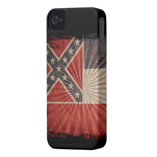 Iphone 4 Case with state flag of Mississippi
