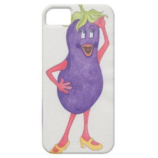 iPhone 5/5S 'Eggplant Agnes' Case