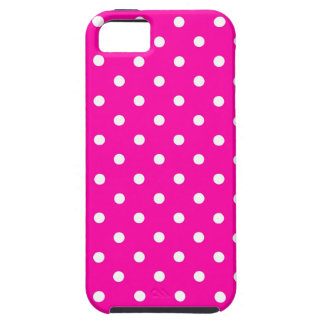 iPhone 5 Case Hot Pink Polka Dot