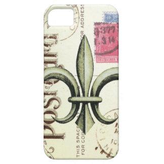 iPhone 5 case- Vintage Fleur de Lis postcard iPhone 5 Case