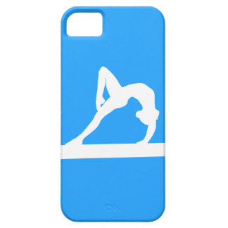 iPhone 5 Gymnast Silhouette White on Blue iPhone 5 Case