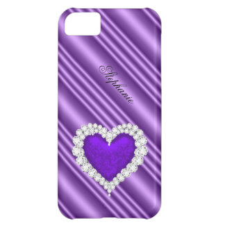 iPhone 5 Princess Silver Purple Bejeweled iPhone 5C Case