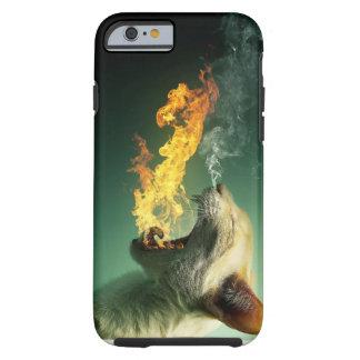 iPhone 6/6s, Tough Fire Breathing Cat Tough iPhone 6 Case