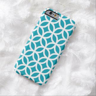 iPhone 6 Case - Aqua Blue Geometric Pattern