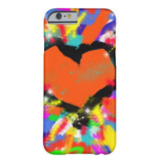 iPhone 6 with colorful heart Barely There iPhone 6 Case
