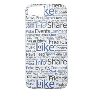 iPhone 7 Case Facebook Like Word Collage