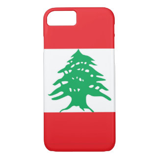 iPhone 7 case with Flag of Lebanon