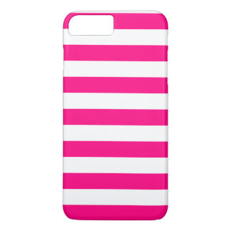 iPhone 7 Plus Case - Hot Pink Bold Stripes