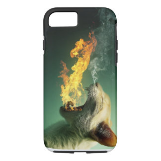 iPhone 7, Tough Fire Breathing Cat iPhone 7 Case