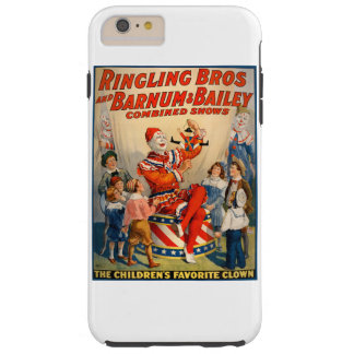 iphone case with a Vintage Circus Poster Tough iPhone 6 Plus Case