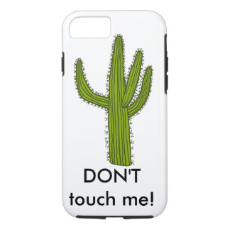 """iPhone case with cactus """"Don't touch me!"""""""