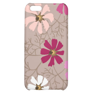iPhone case  with tender floral background. Cover For iPhone 5C