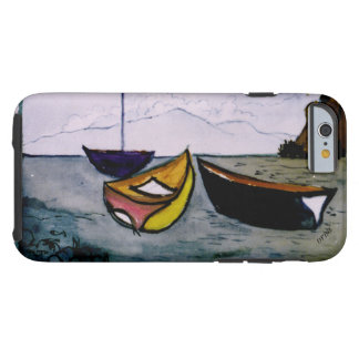 iphone cover with a Boats watercolor