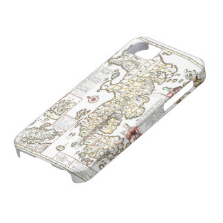 Iphone cover with antique map of Japan