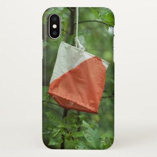 Iphone X case orienteering flag