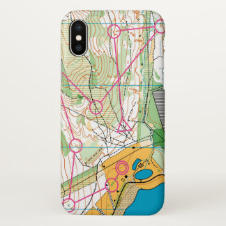 Iphone X case with orienteering map