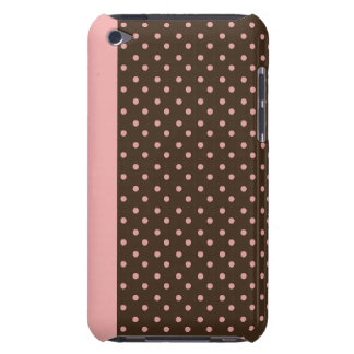 iPod Touch Barely There Case Brown with Pink Dots Case-Mate iPod Touch Case