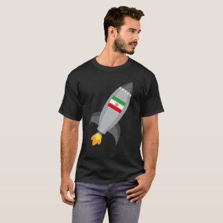 Iran Flag Rocket Ship T-Shirt