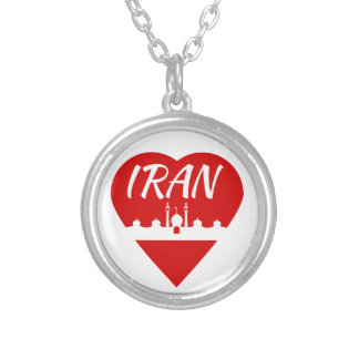 Iran Heart Silver Plated Necklace