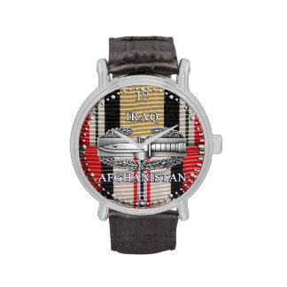 Iraq & Afghanistan Combat Action Badge Watch Watch