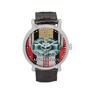 Iraq & Afghanistan Combat Medical Badge Watch