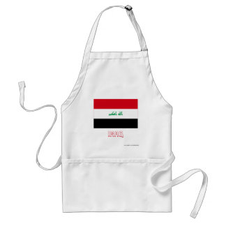 Iraq Flag with Name Standard Apron