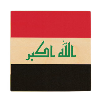 Iraq Flag Wood Coaster