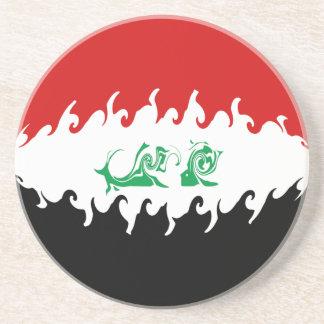 Iraq Gnarly Flag Beverage Coaster