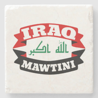 Iraq My Homeland Banner Flag Stone Coaster