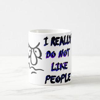 irealy dont like people basic white mug