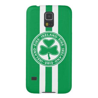 Ireland Éire Shamrock Green and White Galaxy S5 Case