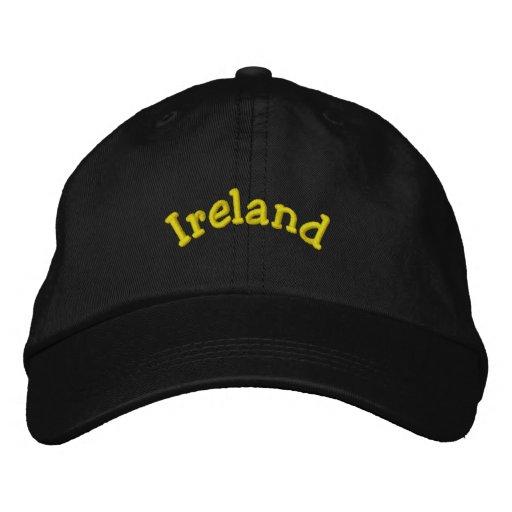 Ireland: Embroidered Hat (Black)