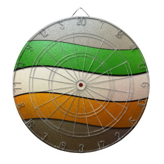 Ireland Flag Colors-Chrome by Shirley Taylor Dartboard