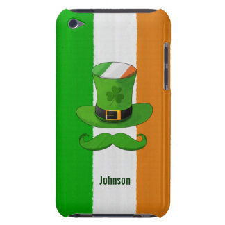 Ireland Flag & Shamrock Leprechaun Hat Mustache iPod Touch Cover