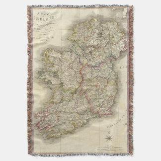 Ireland map throw blanket