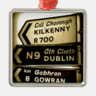 Ireland Roadside Signs Christmas Ornament