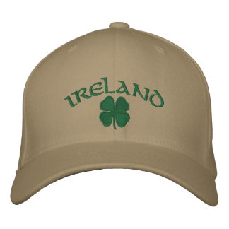 Ireland Shamrock Hat Embroidered Cap
