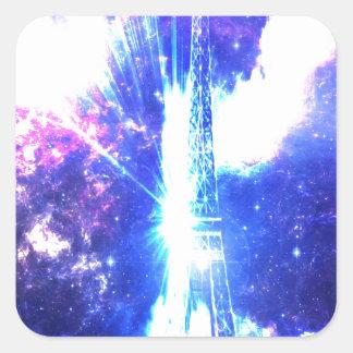 Iridescent Parisian Sky Square Sticker
