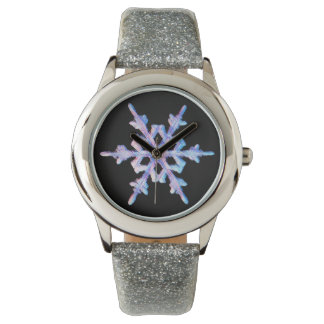 Iridescent snowflake watch