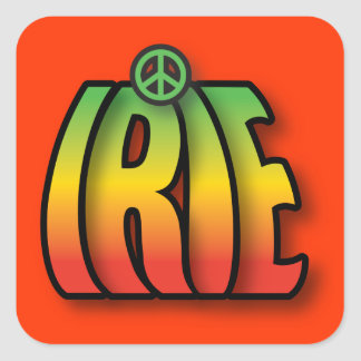 Irie Peace Square Sticker