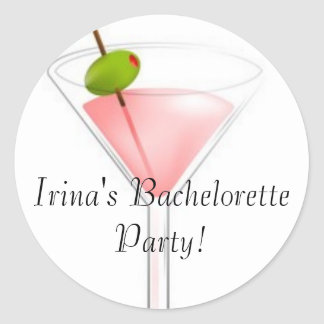 Irina's Bachelorette Party! Round Sticker