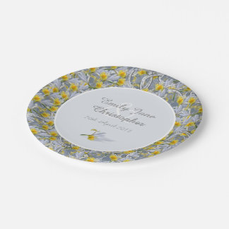 Iris and horseshoes wedding paper plate