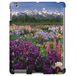 Iris and Lupine garden and Teton Range, iPad Case