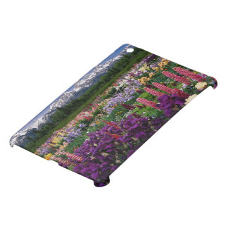 Iris and Lupine garden and Teton Range, iPad Mini Cover