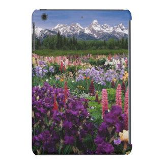 Iris and Lupine garden and Teton Range, iPad Mini Retina Cover