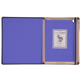 IRIS BLUE (solid flowery color) ~ iPad Covers