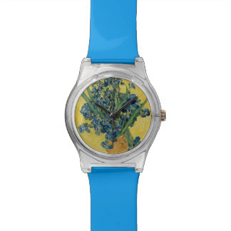 Iris flower van Gogh Watch