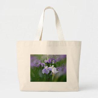 Iris Garden Large Tote Bag